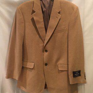 Botany 500 Mens Sport Coat Blazer Size 41R  2-Button Camel Hair Jacket New